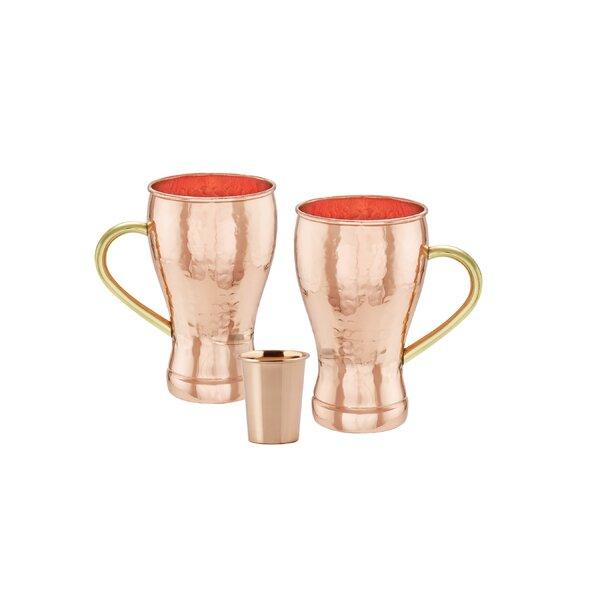 3 Piece 14 oz. Copper Moscow Mule Mug Set by Old Dutch International