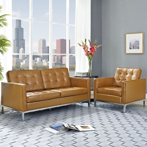 Best #1 Gayatri 2 Piece Leather Living Room Set By Orren Ellis Wonderful