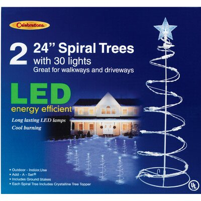 pathway spiral tree led lighted display