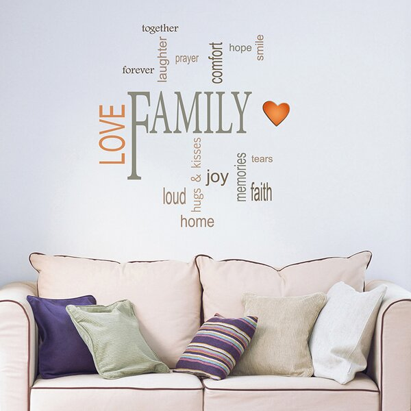 Wallpops Family Quotes Wall Decal Reviews Wayfair