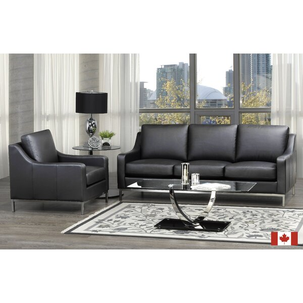 Bland 2 Piece Leather Living Room Set by Rosdorf Park