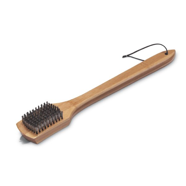 18 Grill Brush with Bamboo Handle by Weber