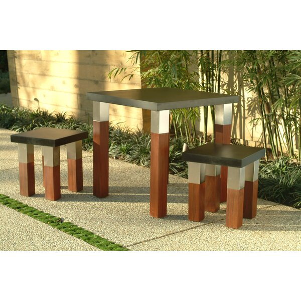 Kenji Stainless Steel Dining Table by Modern Outdoor