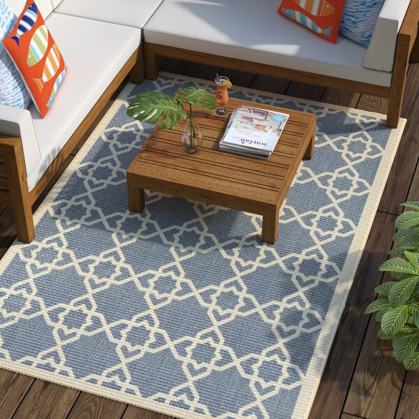 Ceri Blue/Beige Indoor/Outdoor Rug by Beachcrest Home