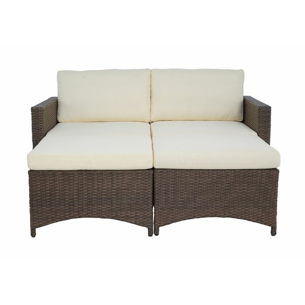 Cedric 2 Piece Rattan Sofa Seating Group with Cushions by Bayou Breeze