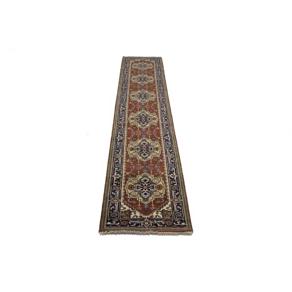 Hester Street Hand Knotted Wool Rusty Red Rug