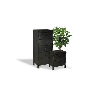 Barley Wood 2 Piece Dresser And Chest Set