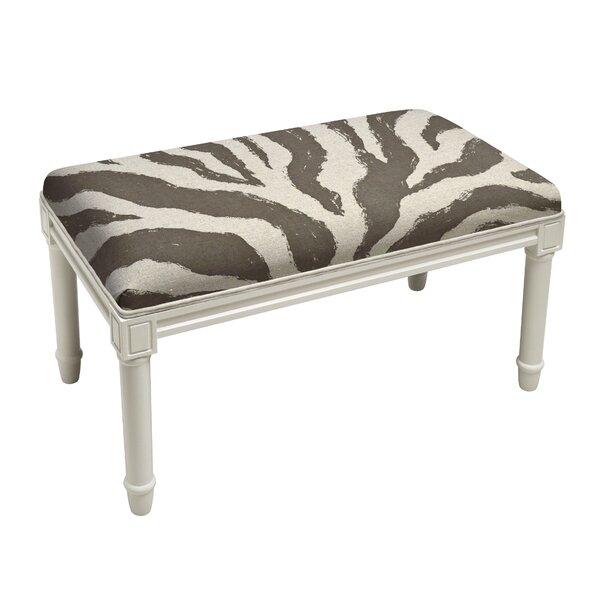 Apolonio Zebra Stripe Wood Bench by House of Hampton