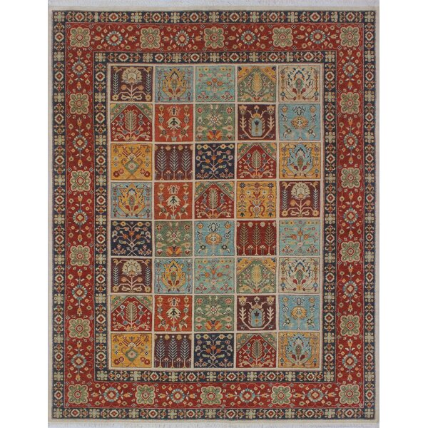 One-of-a-Kind Almendarez Hand-Knotted Wool Ivory Area Rug by Isabelline
