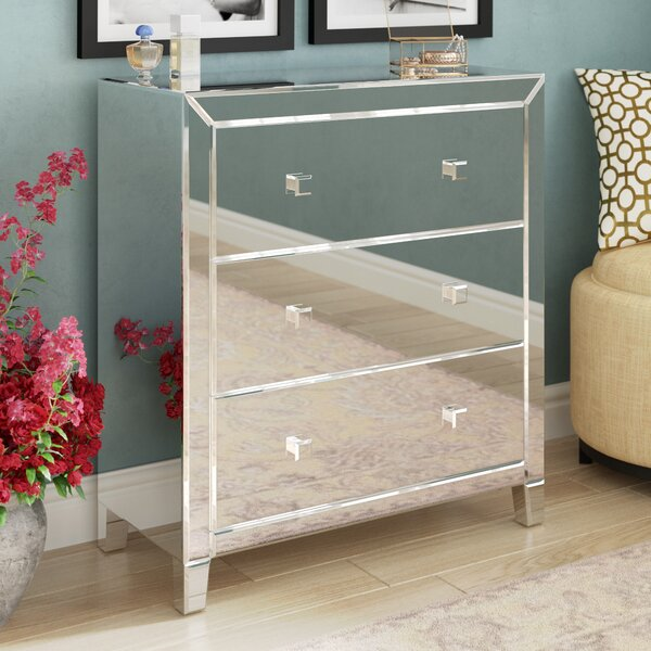 Broadbent 3 Drawer Mirrored Accent Chest By Rosdorf Park