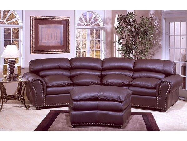 Great Value Williamsburg Leather Conversation Sofa by Omnia Leather by Omnia Leather