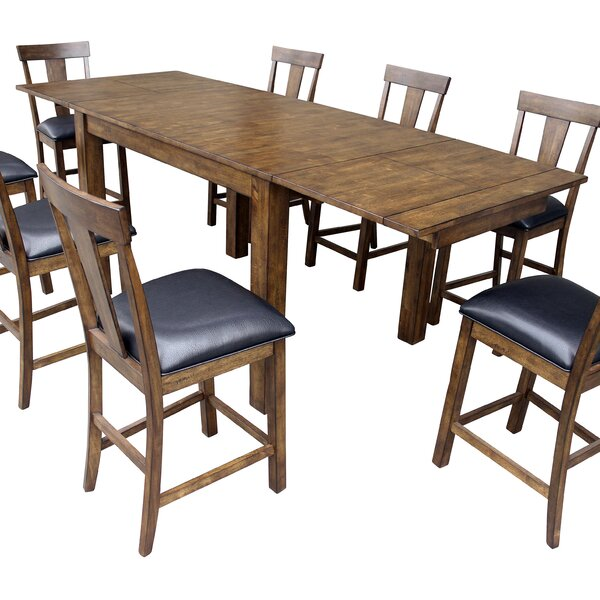 Lolington Solid Wood Dining Table by Loon Peak