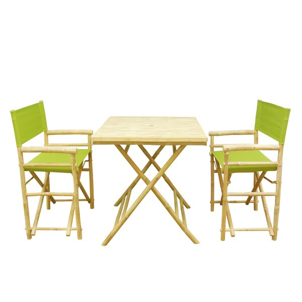 Shawmut Bamboo 3 Piece Outdoor Dining Set by Bay Isle Home