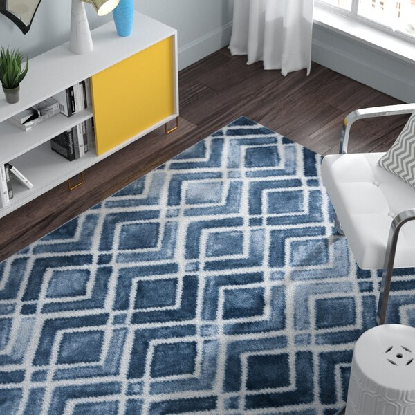 Roma Nova Blue Area Rug by Zipcode Design