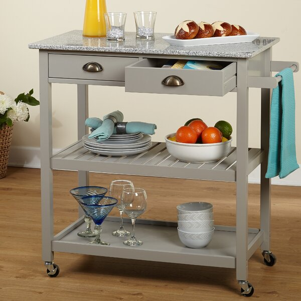 Bronte Rolling Kitchen Cart by Andover Mills