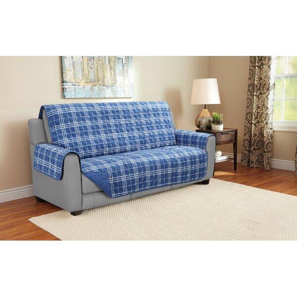Giannini Plaid Furniture Protector Sofa Slipcover By Charlton Home