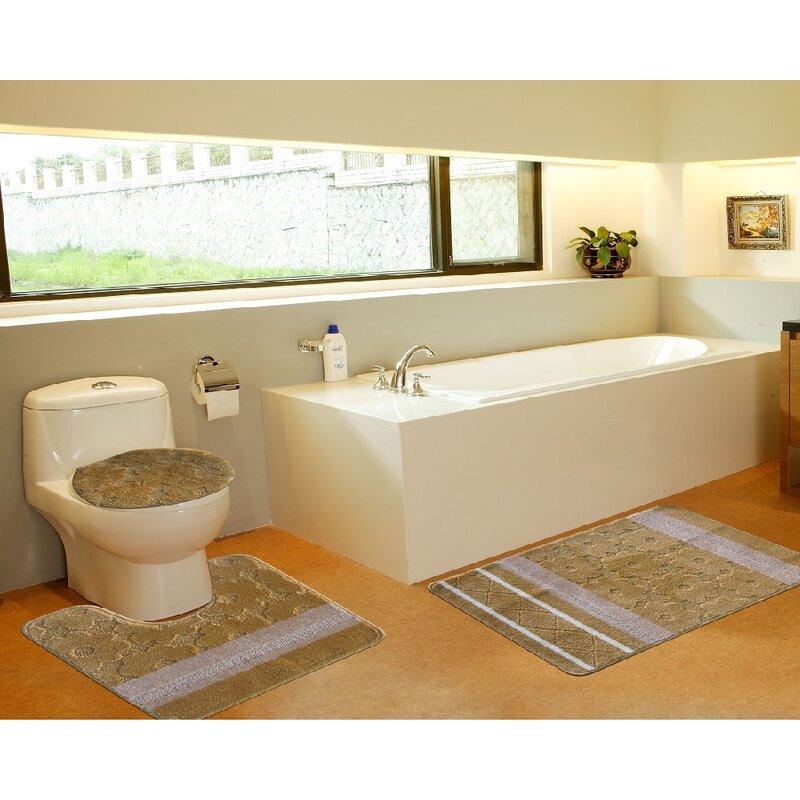 Daniels Bath 3 Piece Bath Mat Set & Reviews | Wayfair