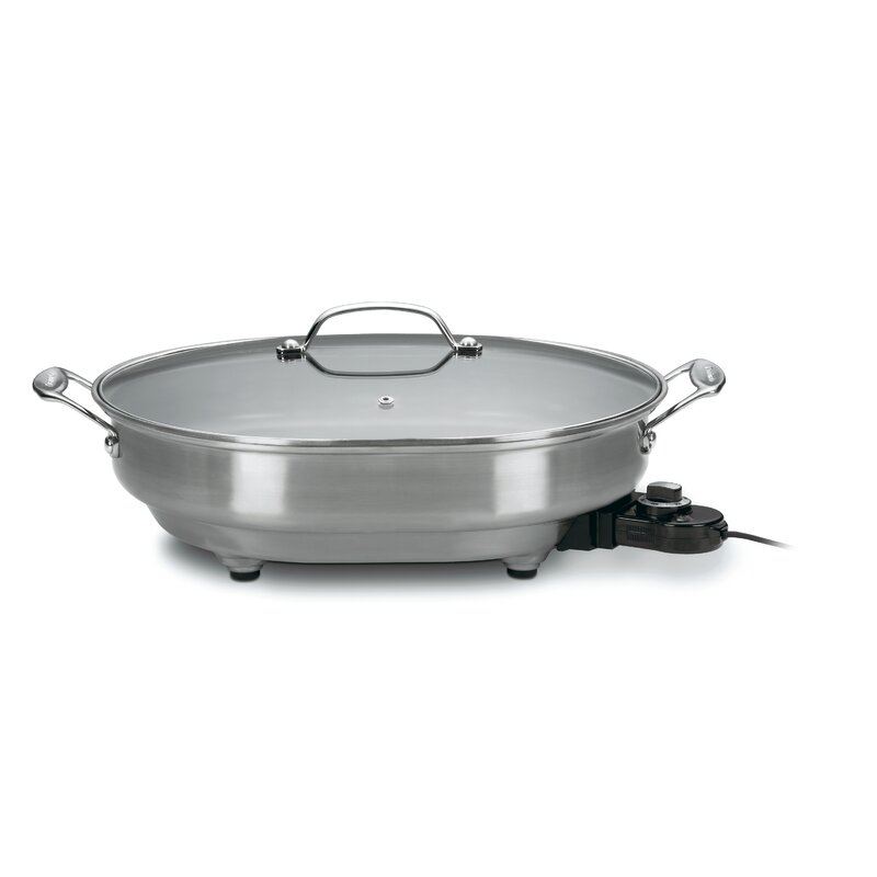 Cuisinart Electric Skillet With Lid Amp Reviews Wayfair