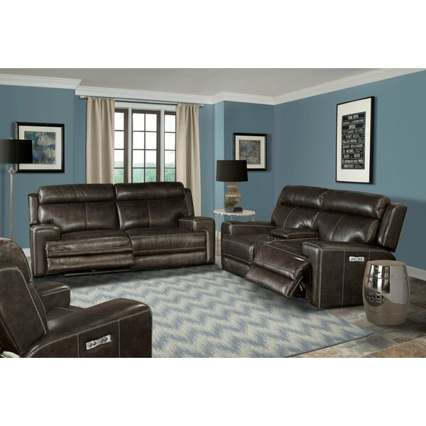 Review Maravilla 3 Piece Leather Reclining Living Room Set