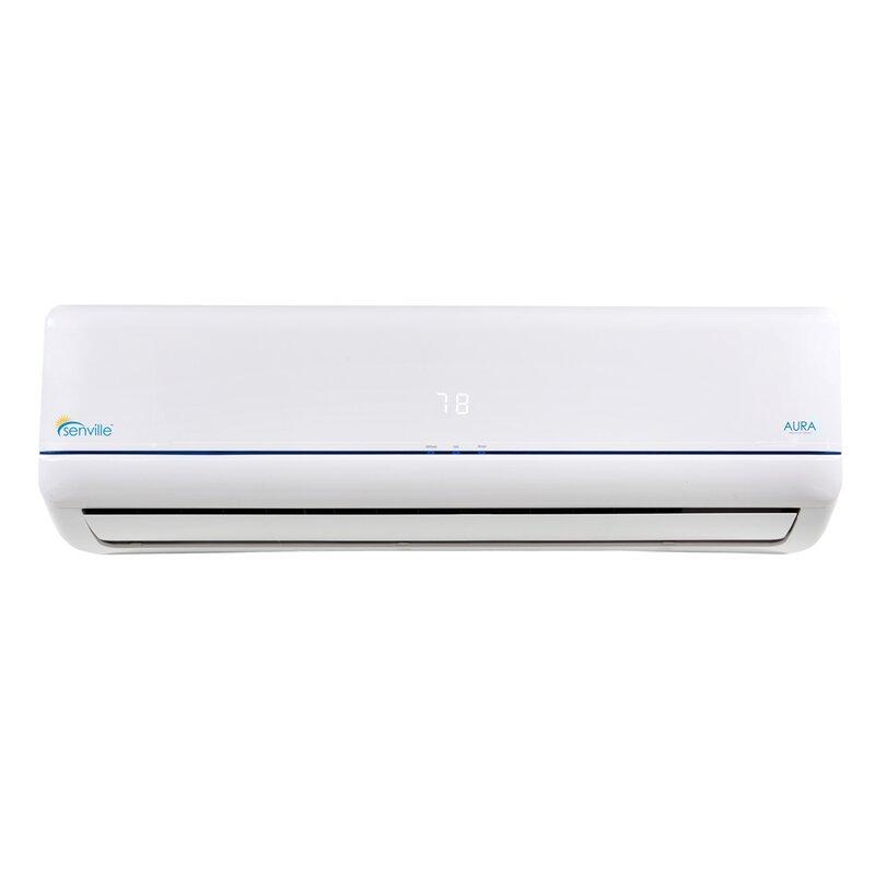 Senville aura 12 000 btu energy star ductless mini split for 12000 btu window air conditioner energy star