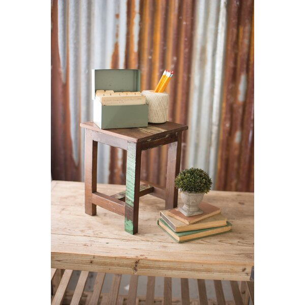 Phares Recycled Wood Accent Stool by Bloomsbury Market