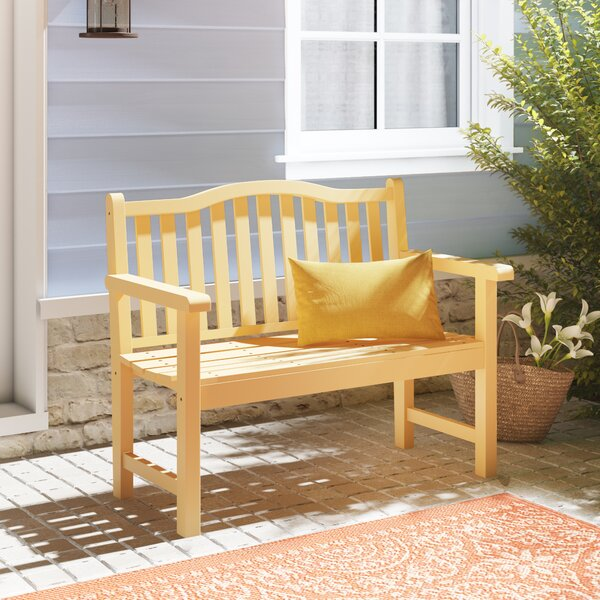 Embry Particle Board Core Wooden Garden Bench by Andover Mills Andover Mills