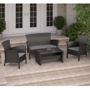 Cascade 4 Piece Sofa Set with Cushions By dCOR design