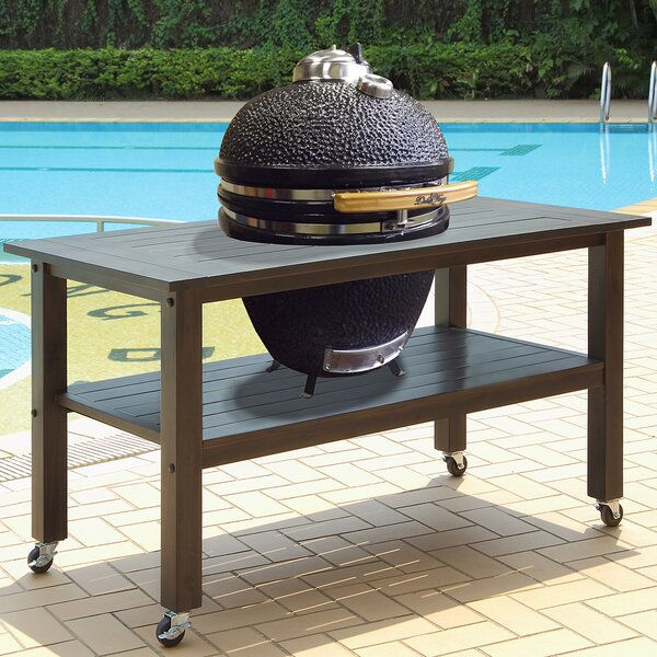 19 Kamado Charcoal Grill with Table by Duluth Forge