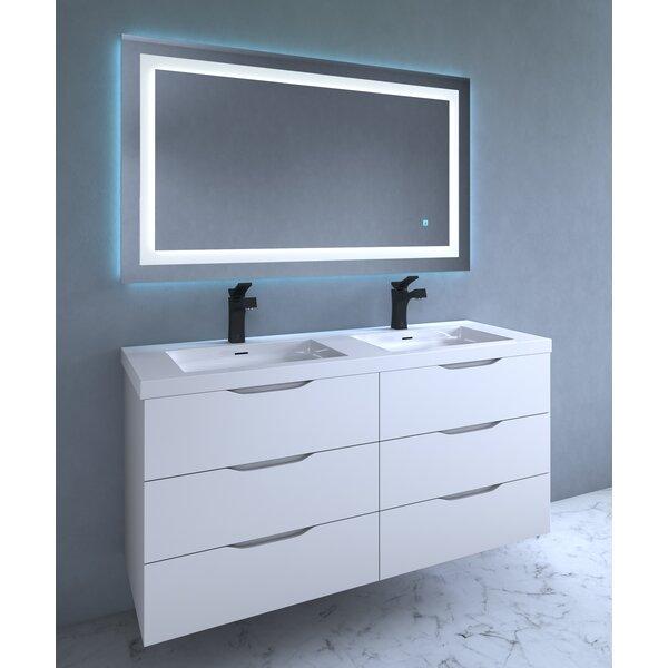 Orren Ellis Contemporary Illuminated LED Bathroom Mirror Reviews