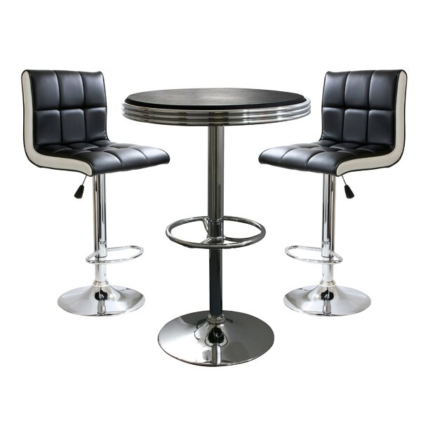 Southampton 3 Piece Adjustable Height Pub Table Set By Latitude Run Modern