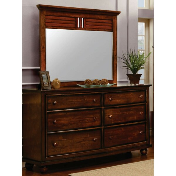 Kiger Shutter 6 Drawer Dresser with Mirror by Bayou Breeze