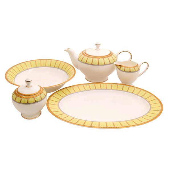Discovery Bone China Traditional Serving 5 Piece Dinnerware Set by Shinepukur Ceramics USA, Inc.