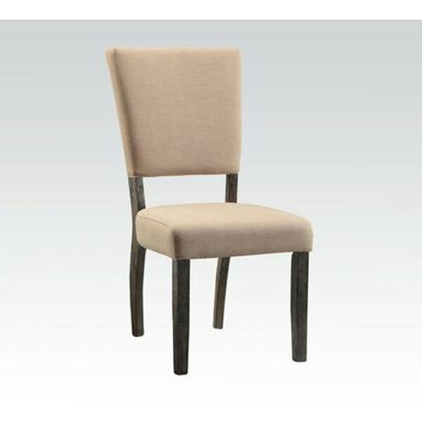 Merrick Nailhead Trim Upholstered Dining Chair (Set of 2) by Alcott Hill