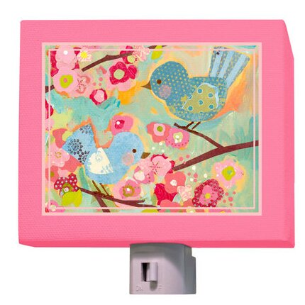 Cherry Blossom Birdies Night Light by Oopsy Daisy