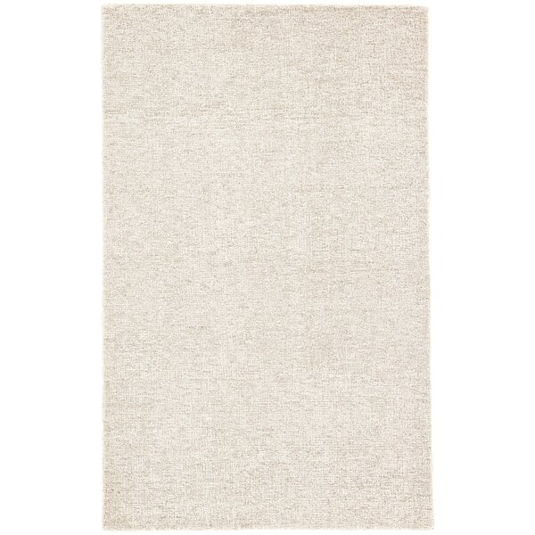 Nehemiah Solid Hand-Tufted Wool Ivory Area Rug by George Oliver