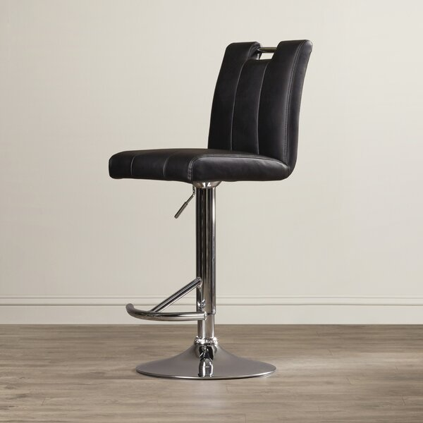 Sebastian Adjustable Height Swivel Bar Stool by Latitude Run