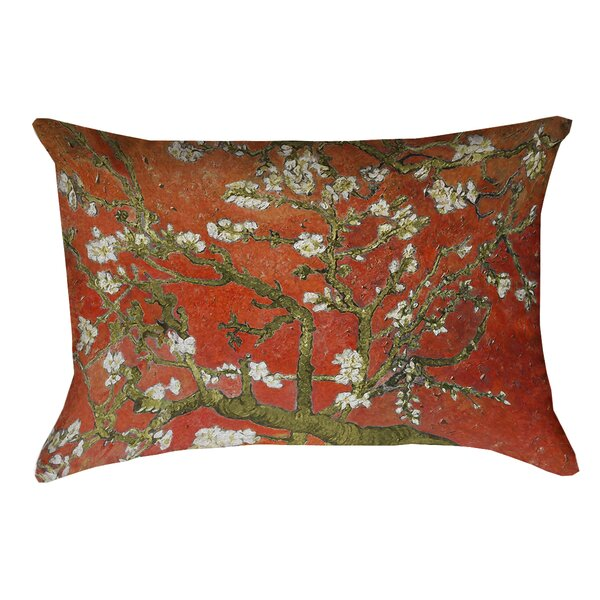 Lei Almond Blossom Outdoor Lumbar Pillow by Bloomsbury Market