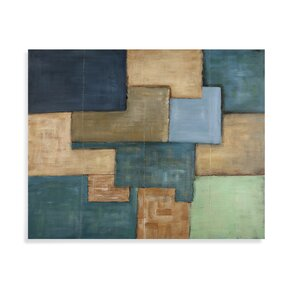 Patchwork Painting on Canvas by Brayden Studio