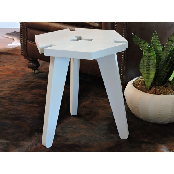 Waldon 3D Box Top Distressed Short Accent Stool by Wrought Studio