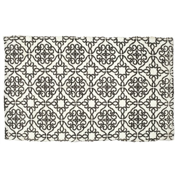 Mullaney Hand-Woven Black/Ivory Area Rug by Bloomsbury Market