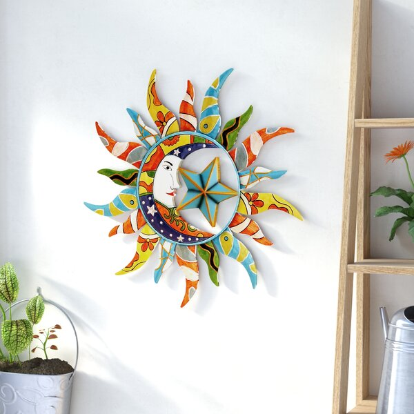 Nature Metal Sun Wall Décor by World Menagerie