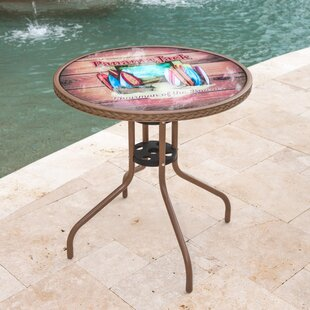 Compare Cafe Chairman of the Boards Bistro Table By Panama Jack Outdoor