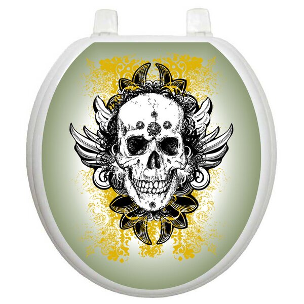 Youth Skull Grunge Toilet Seat Decal by Toilet Tattoos