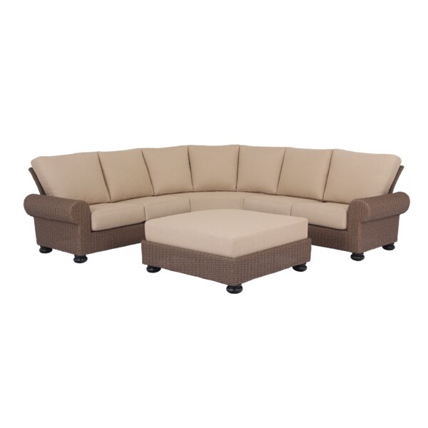 Pacific Shoreline 2 Piece Sectional Seating Group with Cushions by Bayou Breeze