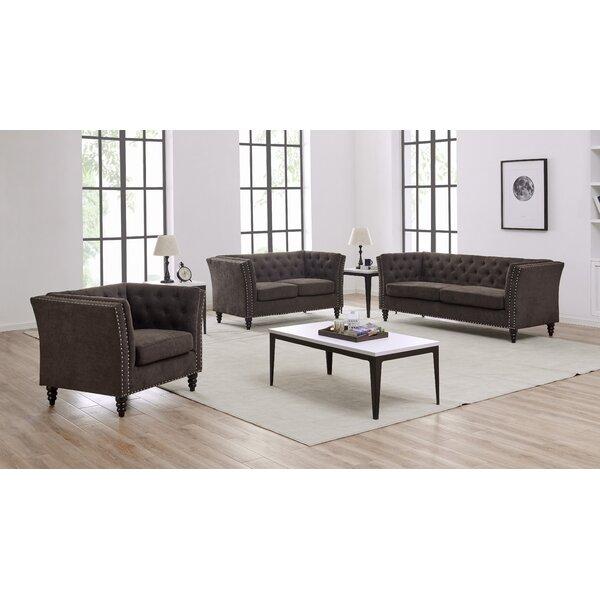 Big Save Schmucker 3 Piece Living Room Set by House of Hampton