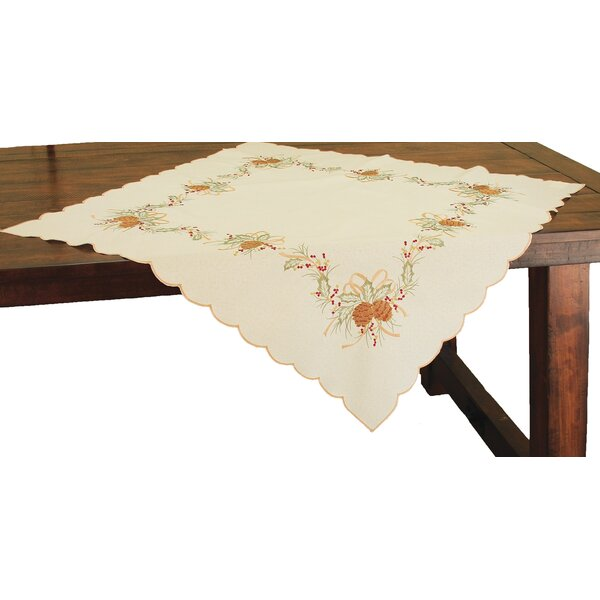 Classic Pine Cone Embroidered Table Topper by Xia Home Fashions