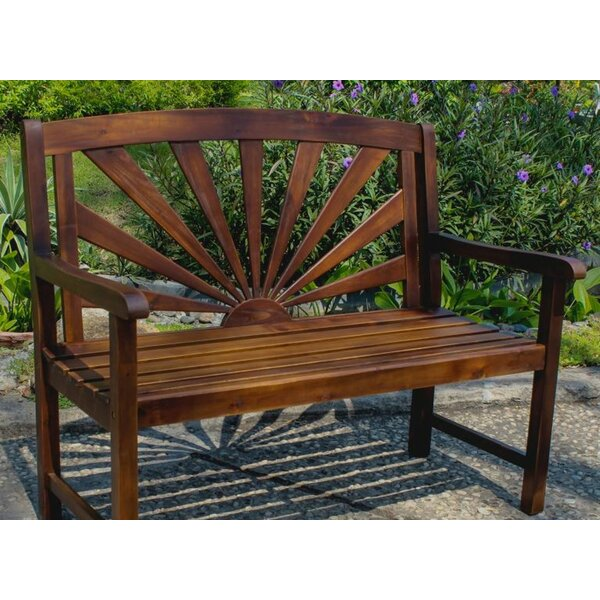 Pine Hills Outdoor Wood Garden Bench by Beachcrest Home