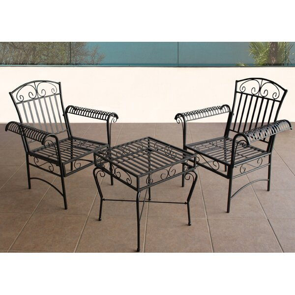 Criner Courtyard 3 Piece Bistro Set by August Grove