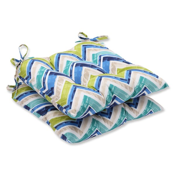 Marquesa Marine Indoor/Outdoor Dining Chair Cushion (Set of 2) by Pillow Perfect