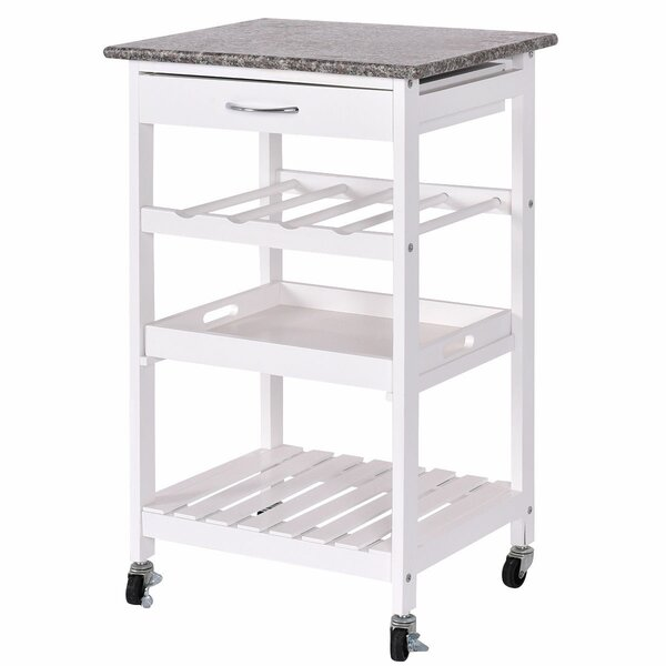 Georgii 4 Tier Kitchen Cart with Granite Top by Winston Porter